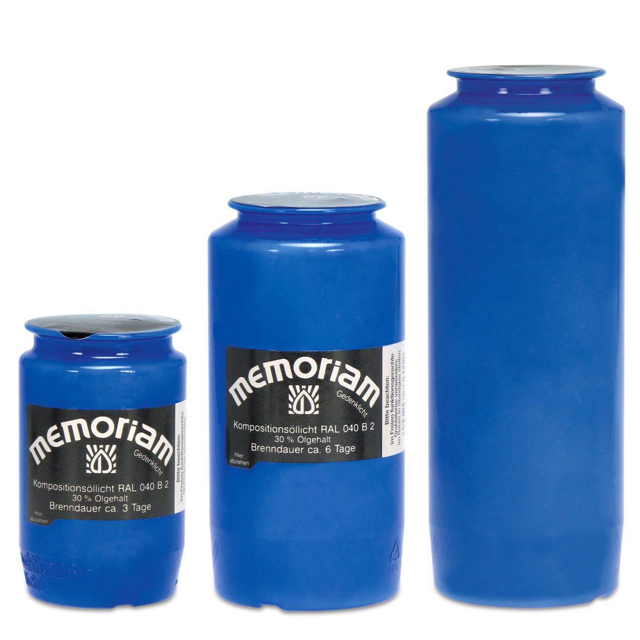 Memoriam Kompositions-Öllichte Blau